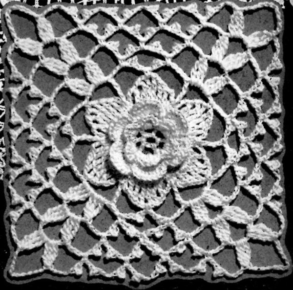 Crochet Irish Rose Motif Tablecloth Pattern - Vintage Crafts and More