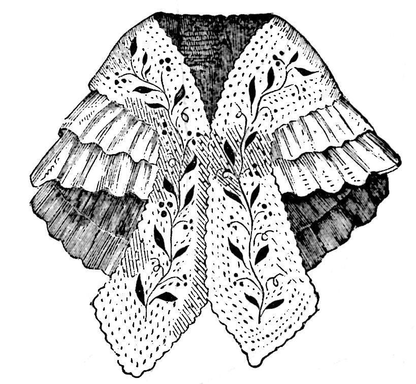 Shoulder Cape Shawl 1860 Mantilla Sewing Pattern