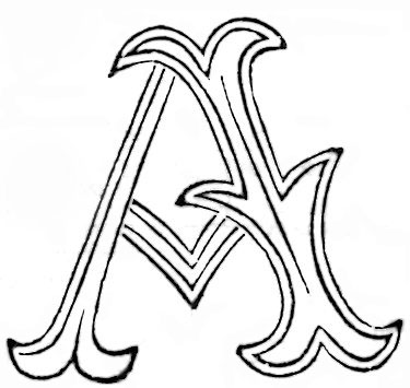 Fancy Antique Alphabet Patterns for Embroidery Monograms Vintage
