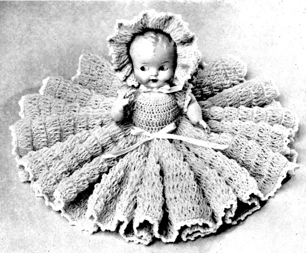 Doreen Doll Pattern 262 Crochet Bed Pillow Doll Vintage